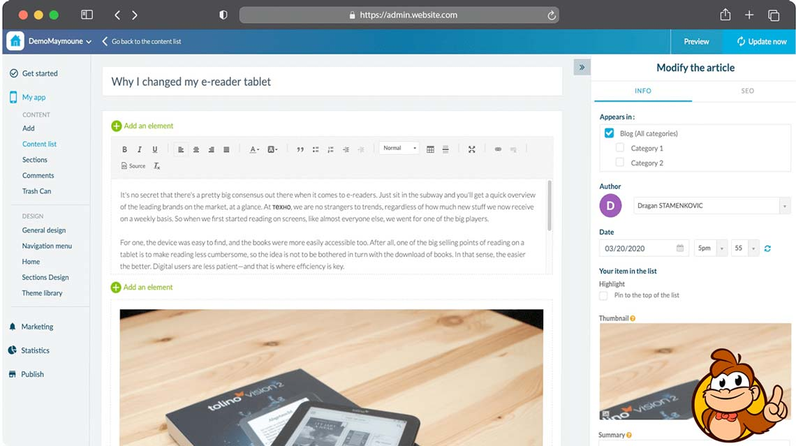 Créer une application mobile avec Maymoune Power